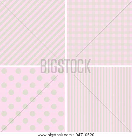 Set Of Sweet Pink Pattern