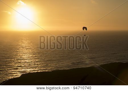 Paragliding on The Coast of California