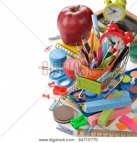 Multicolored Children's School Supplies