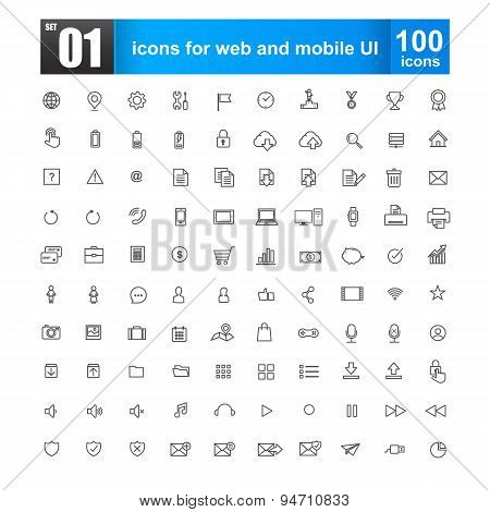 Simple Line Icons For Web Design And Mobile Ui Vector Illustration Edit 02