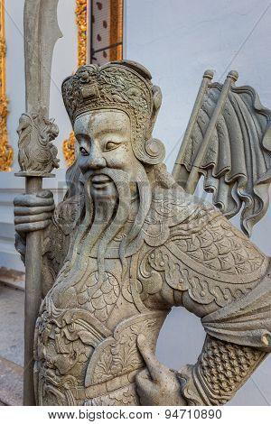 Guardian Statues at Wat Pho (Pho Temple) in Bangkok, Thailand
