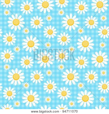 Chamomile Checkered Background