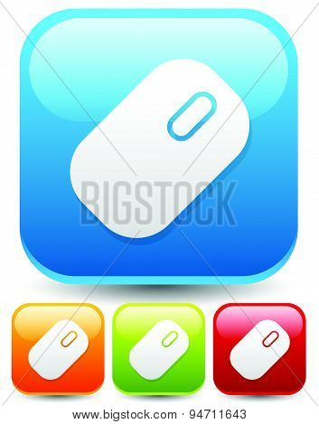 Icons, Buttons With Mouse Symbol. Technology, Computing, Computer, Hardware Concepts. Set Of Mouse I