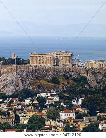 Parthenon temple on Acropolis, Athens Greece