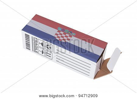 Concept Of Export - Product Of Croatia