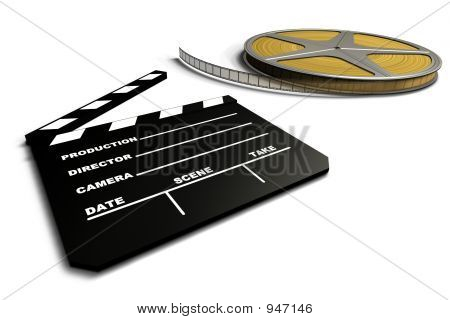 Film Roll And Clapboard