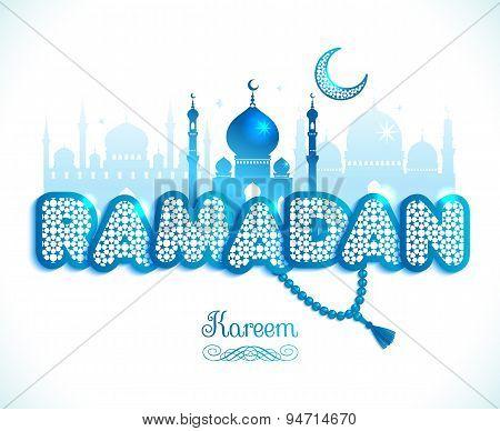 Ramadan Kareem Greeting Card Witx Text Ramadan And Mosque