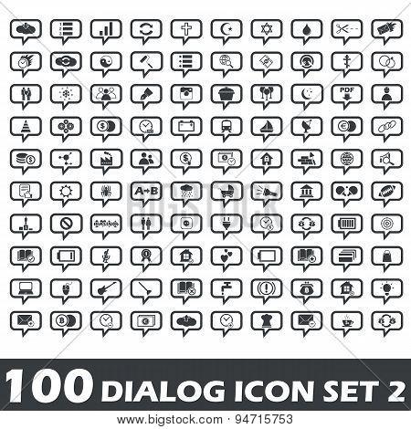 Dialog icon set 2