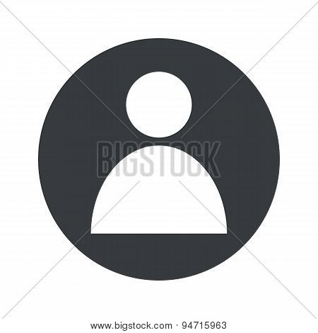 Monochrome round user icon