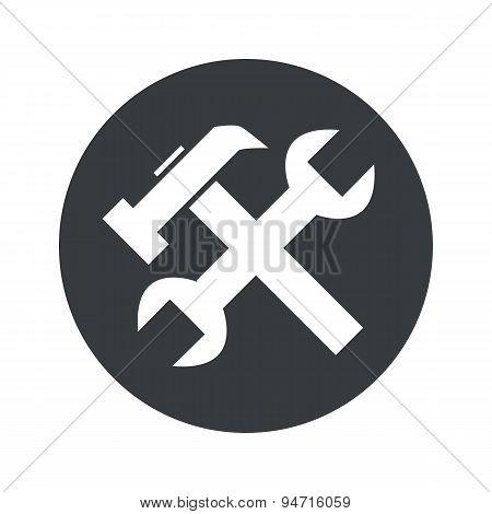 Monochrome round repairs icon