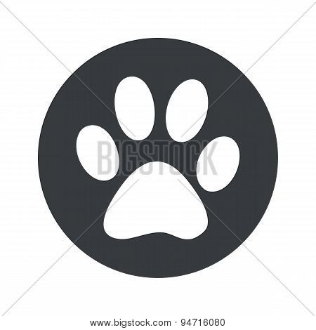Monochrome round paw icon