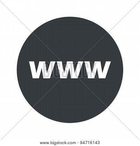 Monochrome round WWW icon