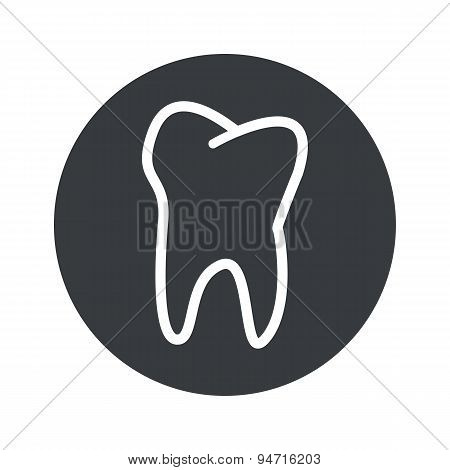 Monochrome round tooth icon