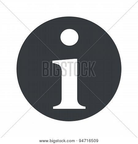 Monochrome round information icon