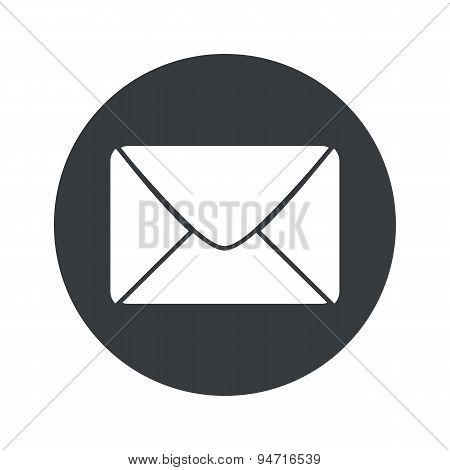 Monochrome round letter icon