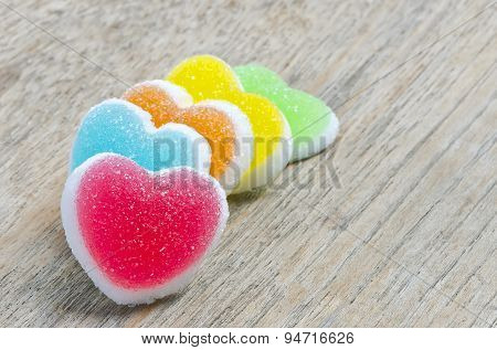 Jelly Candy With Heart Sign