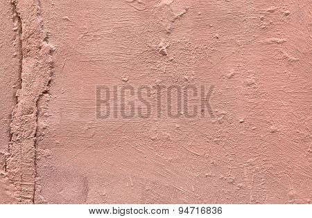 Shabby Pink Painted Concret Wall