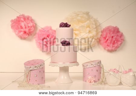 Pink Cake On A Pink Decor