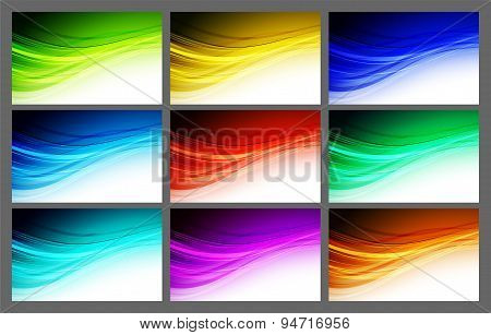 Abstract wavy background Vector design
