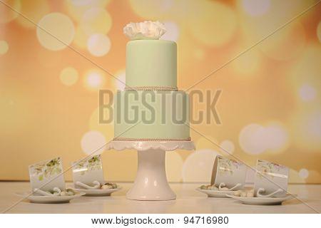 Green Marzipan Cake