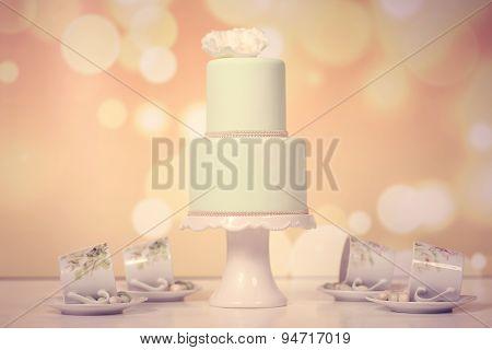 2Tier Green Marzipan Cake