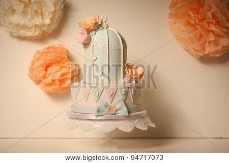 Bird Cage Marzipan Cake