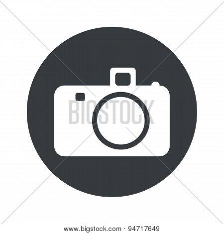 Monochrome round camera icon