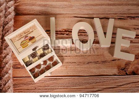 Mini Chocolate Sweets On A Nice Decor