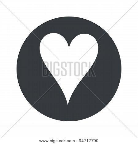 Monochrome round hearts icon