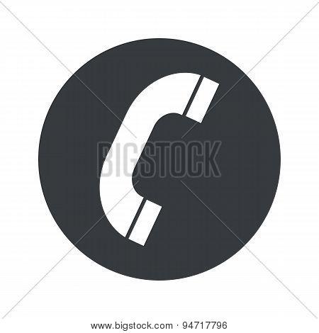 Monochrome round call icon