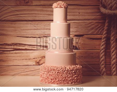 5 Tier Marzipan Cake
