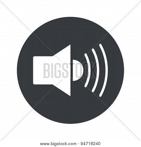 Monochrome round loudspeaker icon
