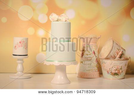 Green Marzipan Wedding Cake