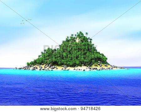 Lost tropical island