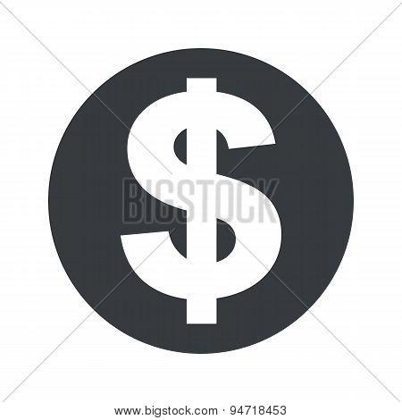 Monochrome round dollar icon