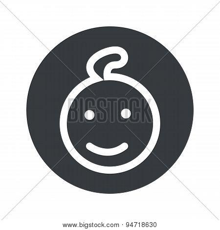 Monochrome round child icon