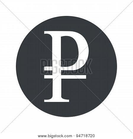 Monochrome round ruble icon