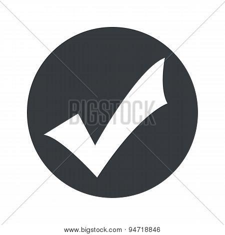 Monochrome round tick mark icon