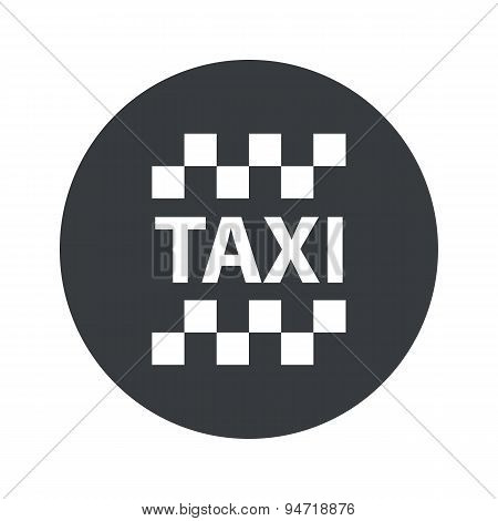 Monochrome round taxi icon