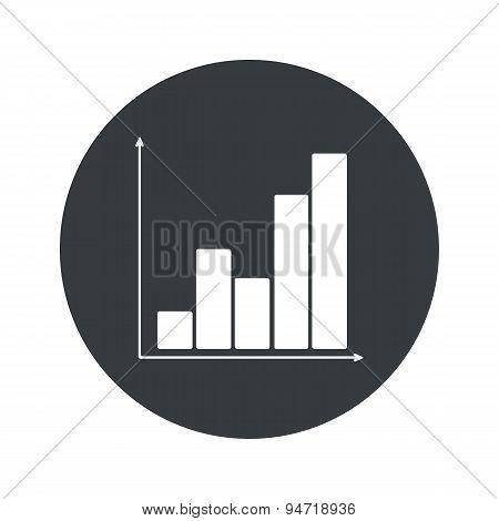 Monochrome round graphic icon