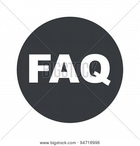 Monochrome round FAQ icon