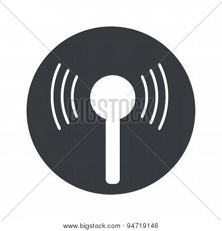 Monochrome round signal icon