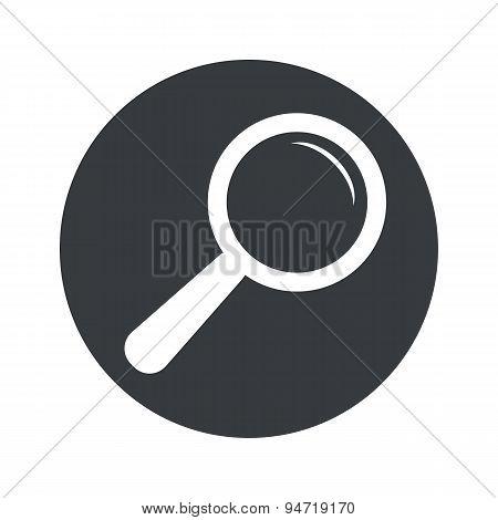 Monochrome round search icon
