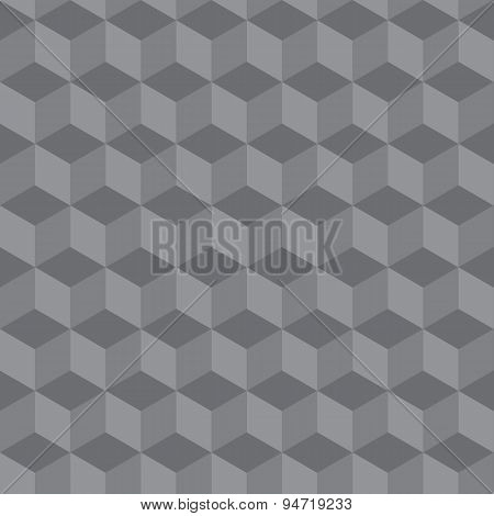 Abstract Seamless Geometric Pattern 3 D Illusion