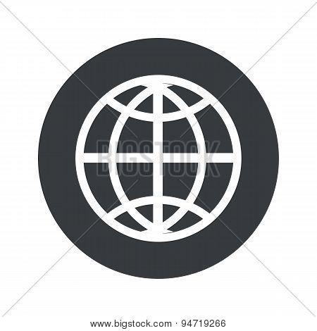 Monochrome round globe icon