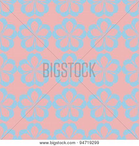 Geometric Seamless Floral Pattern Pastel Palette