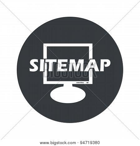 Monochrome round sitemap icon