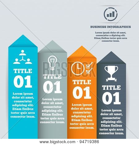 Modern business step origami style options banner, web template, infographics.