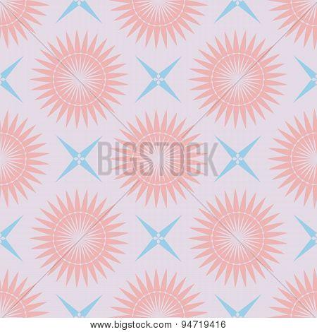 Geometric Seamless Pattern Pastel Palette