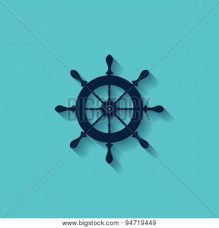 Marine Steering Wheels L Vector Icon